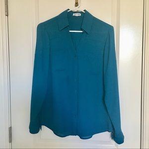 Express Portofino Shirt - Emerald Blue